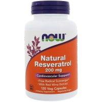 Now Foods, Natural Resveratrol Mega Potency, 200 mg - 120 Vcaps