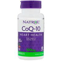 Natrol, CoQ-10, Fast Dissolve, Cherry Flavor, 100 mg - 30 Tablets