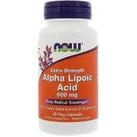 Now Foods, Alpha Lipoic Acid, Highest Potency, 600 ml - 60 Vcaps