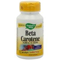 Nature's Way, Beta Carotene, 25,000 IU  D. Salina - 100 Softgels