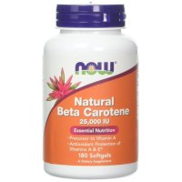 Now Foods, Natural Beta Carotene, 25,000 IU - 180 Softgels