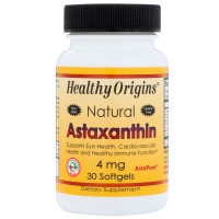 Healthy Origins, Natural Astaxanthin, 4 mg - 30 Softgels