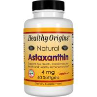 Healthy Origins, Astaxanthin, 4 mg - 60 Softgels