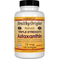 Healthy Origins, Triple Strength Astaxanthin, 12 mg - 150 Softgels