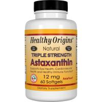 Healthy Origins, Natural Triple Strength Astaxanthin, 12 mg - 60 Softgels