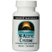 Source Naturals, N-Acetyl Cysteine, 600 mg - 120 Tablets