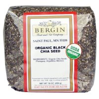 Bergin Fruit and Nut Company, Organic Black Chia Seed - 16 oz (454 g)