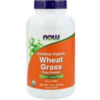 Now Foods, Certified Organic Wheat Grass - 9 oz (255 g)