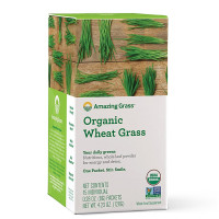 Amazing Grass, Organic Wheat Grass, Whole Food Drink Powder - 15 Individual Packets (8 g E
