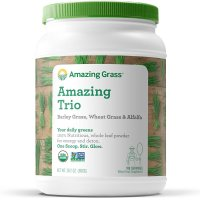 Amazing Grass, The Amazing Trio, Barley Grass & Wheat Grass & Alfalfa - 28.2 oz (800 g)