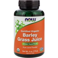 Now Foods, Certified Organic Barley Grass Juice - 4 oz (113 g)