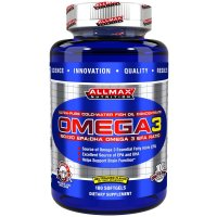 ALLMAX Nutrition, Omega-3 Fish Oil, Ultra-Pure Cold-Water Fish Oil - 180 Softgels
