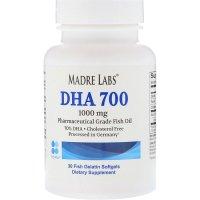 Madre Labs, DHA 700 Fish Oil, Pharmaceutical Grade, 1000 mg - 30 Fish Gelatin Softgels