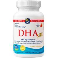 Nordic Naturals, DHA Xtra, 1000 mg, Strawberry - 60 Soft Gels