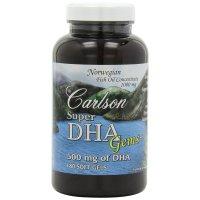 Carlson Labs, Super-DHA Gems, 500 mg - 180 Soft Gels