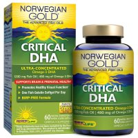 Renew Life, Norwegian Gold® Fish Oil Critical DHA - 60 Softgel Capsules
