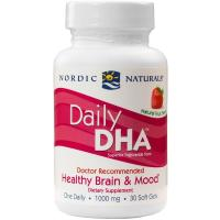 Nordic Naturals, Daily DHA, Strawberry, 1000 mg - 30 Soft Gels