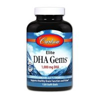 Carlson Labs, Elite DHA Gems, 1,000 mg - 120 Softgels