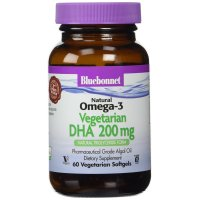 Bluebonnet Nutrition, Natural Omega-3, Vegetarian DHA, 200 mg - 60 Veggie Softgels