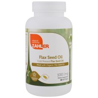 Zahler, Organic Flax Seed Oil, 1,000 mg - 90 Softgels