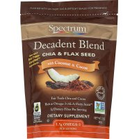 Spectrum Essentials, Decadent Blend Chia & Flax Seed, With Coconut & Cocoa - 12 oz (340 g)