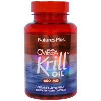Nature's Plus, Omega Krill Oil, 600 mg - 60 Liquid-Filled Capsules