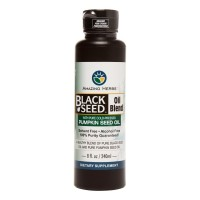 Amazing Herbs, Black Seed Oil Blend with Pure Cold-Pressed Pumpkin Seed Oil - 8 fl oz (240