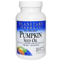Planetary Herbals, Full Spectrum, Pumpkin Seed Oil, 1,000 mg - 90 Softgels