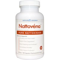 Arthur Andrew Medical, Nattovena, Pure Nattokinase, 200 mg - 180 Capsules