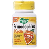 Nature's Way, Primadophilus, Kids, Orange Flavor Chewables - 30 Tablets