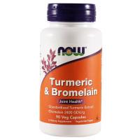 Now Foods, Turmeric & Bromelain - 90 Veg Capsules