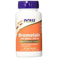 Now Foods, Bromelain, 500 mg - 60 Veg Capsules