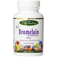 Paradise Herbs, Bromelain, Joint & Digestive Formula, 500 mg - 60 Veggie Caps
