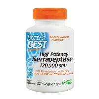 Doctor's Best, Best High Potency Serrapeptase, 120,000 SPUs - 270 Veggie Caps