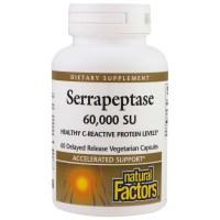 Natural Factors, Serrapeptase, 60,000 SU - 60 Delayed Release Vegetarian Capsules