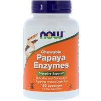 Now Foods, Chewable Papaya Enzymes - 180 Lozenges