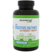 Zenwise Health, Daily Digestive Enzymes with Prebiotics & Probiotics - 180 Vegetarian Caps