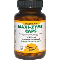 Country Life, Maxi-Zyme Caps - 60 Vegetarian Capsules