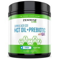 Zenwise Health, Caprylic Acid (C8) MCT Oil + Prebiotic with GoMCT - 15.87 oz (450 g)