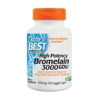 Doctor's Best, Best 3000 GDU Bromelain, 500 mg - 90 Veggie Caps