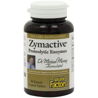 Natural Factors, Zymactive, Proteolytic Enzymes - 90 Enteric Coated Tablets