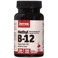 Jarrow Formulas, Methyl B-12, Cherry Flavor, 500 mcg - 100 Lozenges