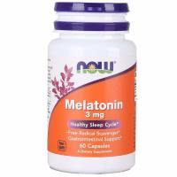 Now Foods, Melatonin, 3 mg - 60 Capsules