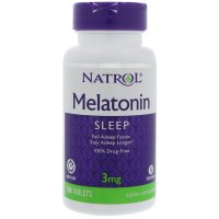 Natrol, Melatonin, Sleep, Time Release, 3 mg - 100 Tablets