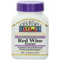 21st Century, Resveratrol Red Wine Extract - 90 Capsules