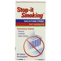 NatraBio, Stop-it Smoking, Detoxifying Tablets, Nicotine Free - 60 Tablets