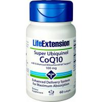 Life Extension, Super Ubiquinol CoQ10 with Enhanced Mitochondrial Support 100 mg - 60 Soft