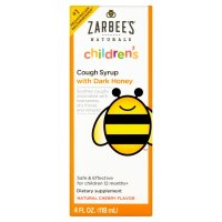 Zarbee's, Children's Cough Syrup with Dark Honey, Natural Cherry Flavor - 4 fl oz (118 ml)