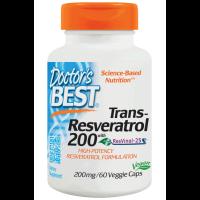 Doctor's Best, Trans-Resveratrol 200, 200 mg - 60 Veggie Caps