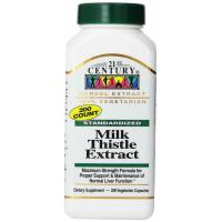 21st Century, Milk Thistle Extract - 200 Veggie Caps